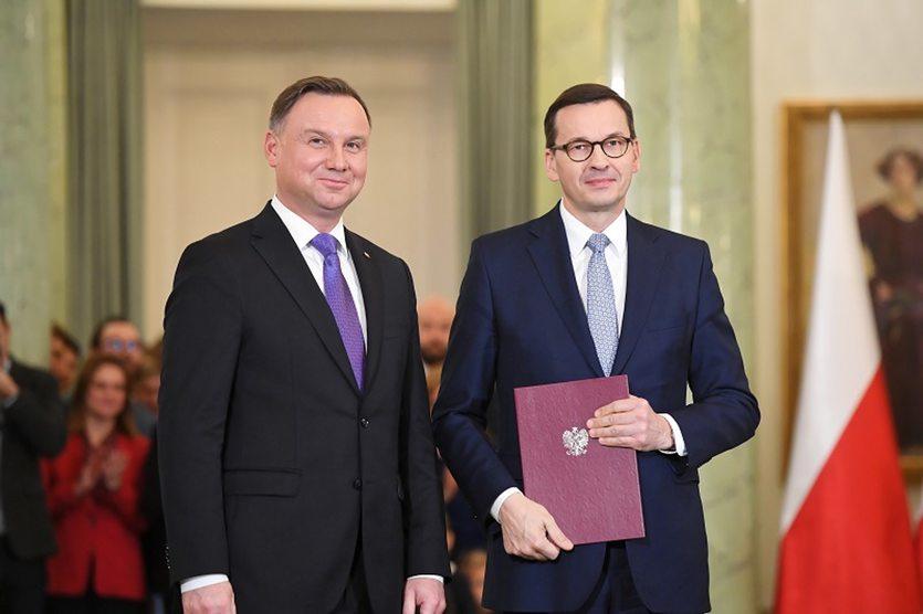 rząd Morawiecki Duda premier prezydent